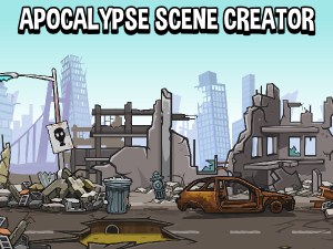 Apocalypse or warzone scene creation game assets