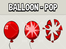 Balloon popping animation