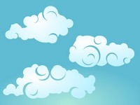 Bubble clouds graphic