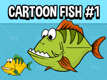 Cartoon style fish sprite