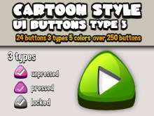 Cartoon ui buttons 3