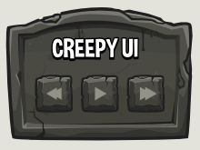 Creepy Graveyard ui