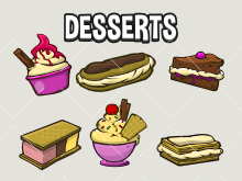 Dessert icon collection
