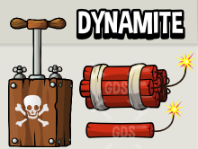 Dynamite and detonator animation