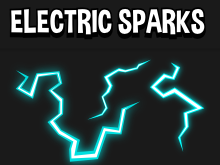Electric spark bolt effects