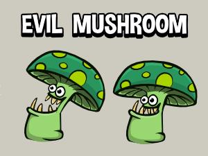 Evil mushroom 2d game character