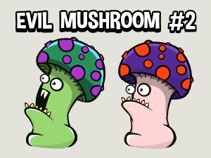 Evil mushroom animated game character no2
