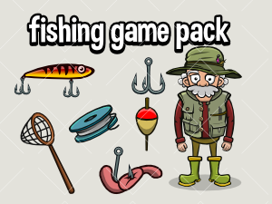 Fishing game asset pack