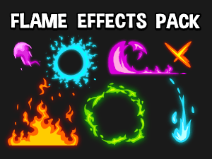Flame effect 2d game effects pack