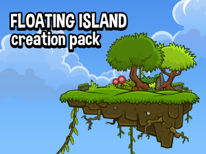 Floating island enviroment creation pack