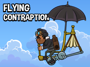 Flying contraption 4 2d animated game asset