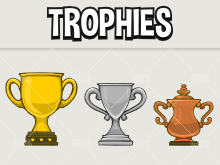 Game acheivement trophies