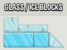 Glass and ice physics blocks