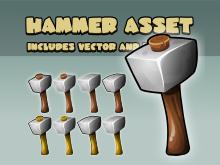 Hammer game asset