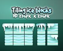 Ice block tiles