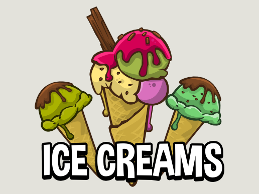 Ice cream game sprites