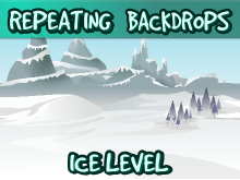 Ice level backdrops