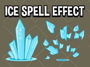 Ice spell 2d game asset