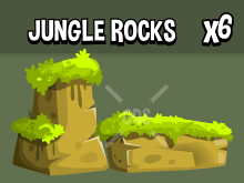 Jungle level Rocks