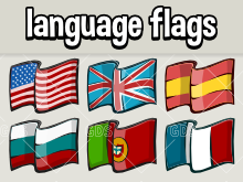 Language select flags for games