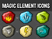 Magic element icons