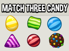 Match three candy icons