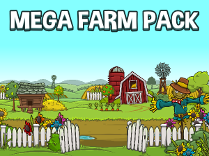 Mega farm scene construction kit