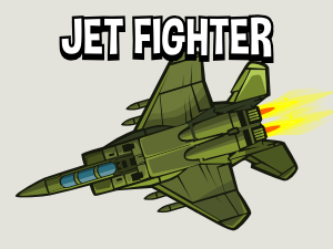 Military jet 2d game asset