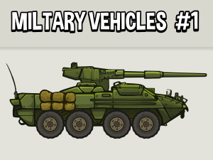 Military vehicle wheeled tank