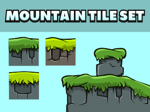 Mountain scene 2d game tile set