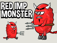 Red imp monster