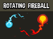 Rotating fireball effect