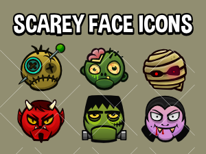 Scarey  face icons
