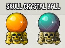 Skull crystal ball