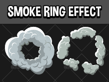 Smoke ring 2d animated game effect
