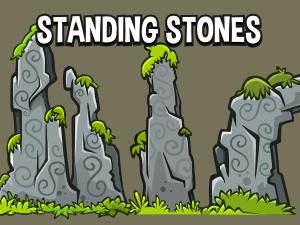 Standing stones 2d environment design asset