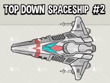 Top down spaceship type 2