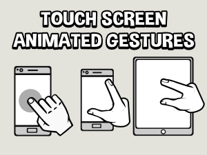 Touchscreen animated gestures