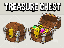 Treasure chest game asset