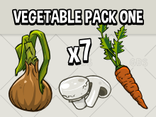 Vegetable ingredient icons