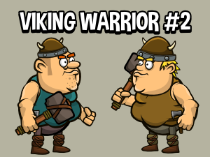 Viking character game asset