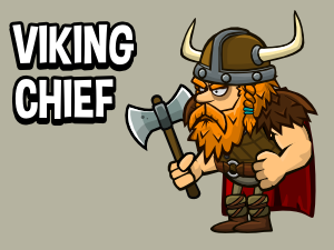 Viking cheif warrior