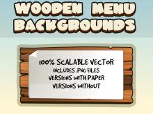 Wooden Ui menus