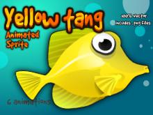 Yellow fish sprite