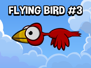 animated flying bird 2d game asset