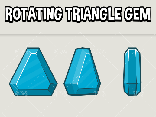 animated rotating triangle jewel