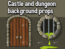 castle and dungeon background props