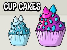 cup cakes game assets