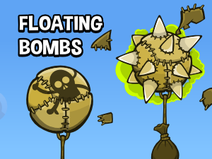 floating bombs game assets