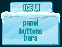 ice themed  game user interface
